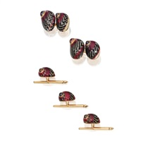 dress set including a pair of cufflinks and studs (set of 4) by fred leighton