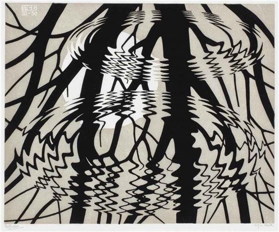 rippled surface by m c escher