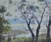 harbour through the trees by john allcott