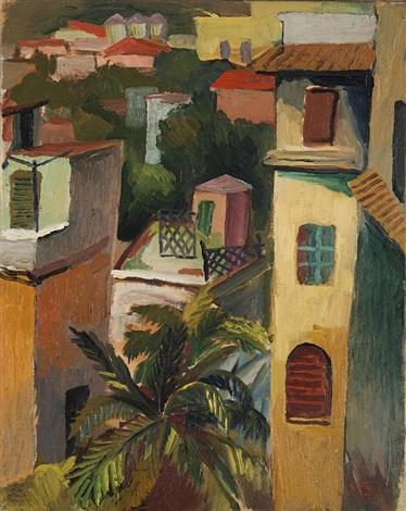 Paesaggio con case tetti di roma by renato guttuso on artnet for Tetti di case moderne