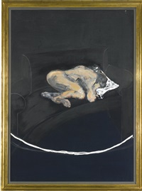 study for portrait of p.l, no. i by francis bacon