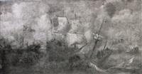 naval battle against the turks by caspar van eyck