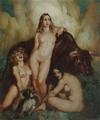 keepers of the bull by norman alfred williams lindsay