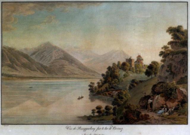 Vue de ringgenberg sur le lac de brienz by simon daniel - Lac de brienz ...