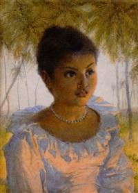 southeast asian lady by alfred edward emslie