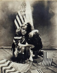 girl with flags by louis fleckenstein