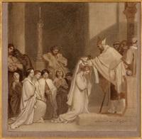 la consécration de sainte geneviève by alexandre-jean-baptiste hesse