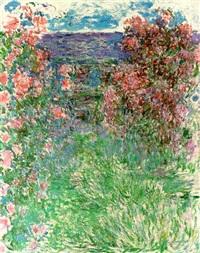 la maison dans les roses by claude monet