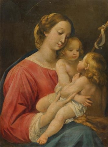 the madonna and child with the infant saint john the baptist by giuseppe cesari