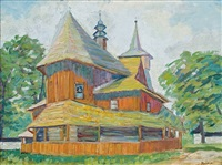 country wooden church by emil krcha