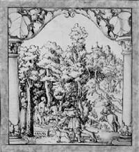 diana and actaeon by hans heinrich glaser