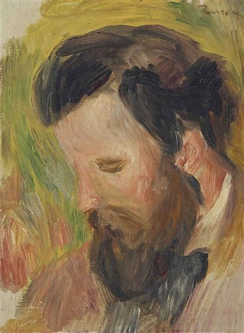 portrait du compositeur claude terrasse study for confidence no 2070 by pierre auguste renoir