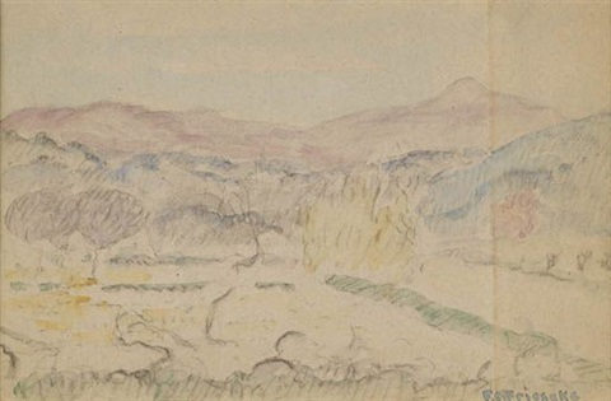 pastoral landscape by frederick carl frieseke