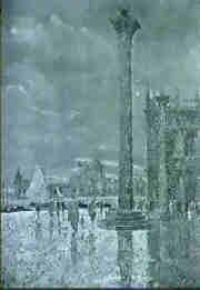 la place saint marc, a venise by giovanni vianello