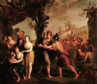 darius abandonnant sa famille après la victoire d'alexandre by cornelis lens