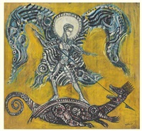 untitled (archangel michael and the dragon) by robert smithson