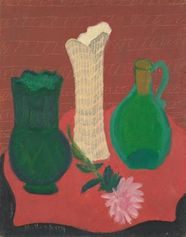 three vases by milton avery