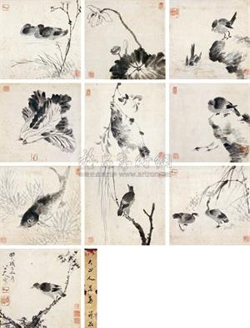 花鸟 flowers and birds album w10 works by bada shanren