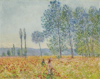 sous les peupliers by claude monet
