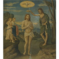 the baptism of christ by girolamo da santacroce