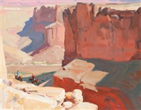 walls of badger creek (study) by g. russell case