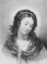 brustbild eines jungen mädchens (after francois-andré vincent) by gilles-antoine demarteau