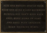 just one rotten spot (from the living series) by jenny holzer