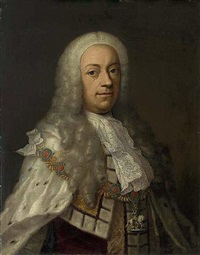 portrait of king george ii in robes of state with the collar of the garter by anglo-hanoverian school (18)