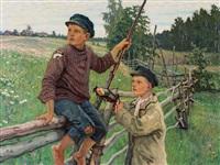 country boys, russia by nikolai petrovich bogdanov-bel'sky