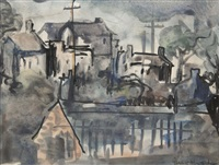 village scene by gladys maccabe