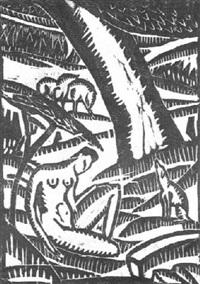 mädchen unter bäumen by max zachmann