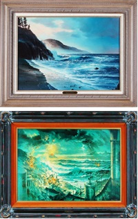 per chance to dream and sinking of atlantis (2 works) by edward barton