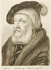 portraits (7 works after hans holbein) by wenceslaus hollar