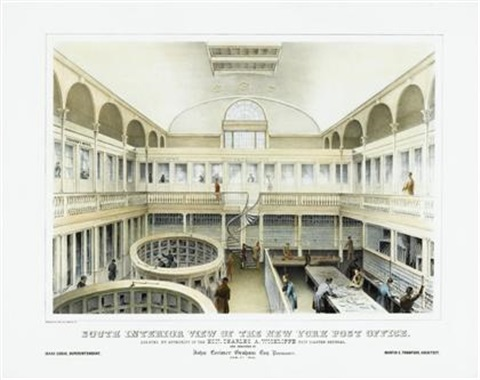South Interior View Of The New York Post Office By Endicott Co Printers