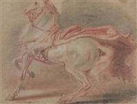 cheval à l'arrêt piaffant by jean-baptiste (louis) le paon