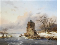 a winter's evening by frederik marinus kruseman
