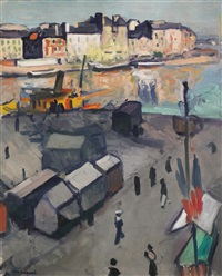 le havre, le bassin by albert marquet