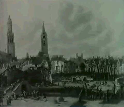 lexplosion de la poudriere de delft en 1654 by daniel vosmaer