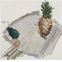 pineapple table by manoucher yektai