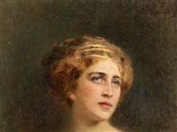portrait of a roman woman by konstantin egorovich makovsky