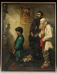 before the iconostasis by eric henri kennington