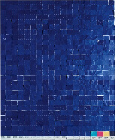 after yves klein from pictures of colour by vik muniz