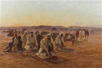 evening prayers in the desert by otto pilny