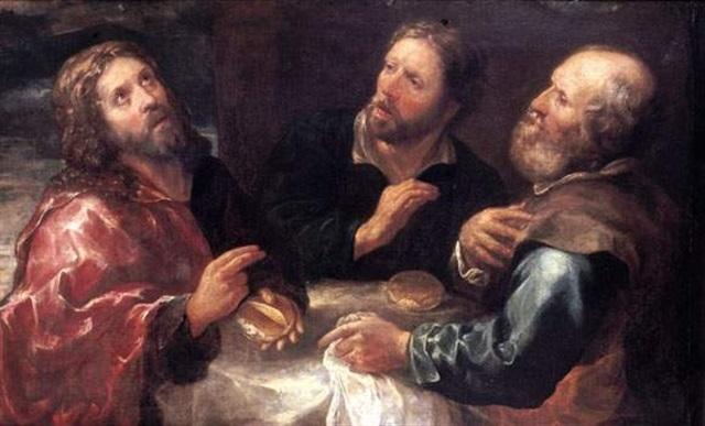 les pèlerins demmaüs by gioacchino assereto