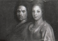 portrait du peintre et de sa femme by antoine rivalz