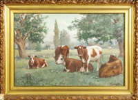 cows in pasture by wilson marlatt