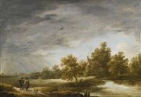 river landscape with rainbow by david teniers the younger