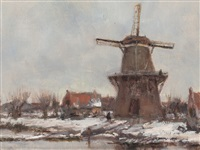 dutch windmill by jacques witjens