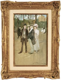 personnages, avenue foch by gaston mannier