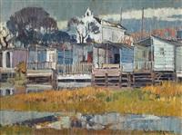 barracones sobre el río by josep verdaguer